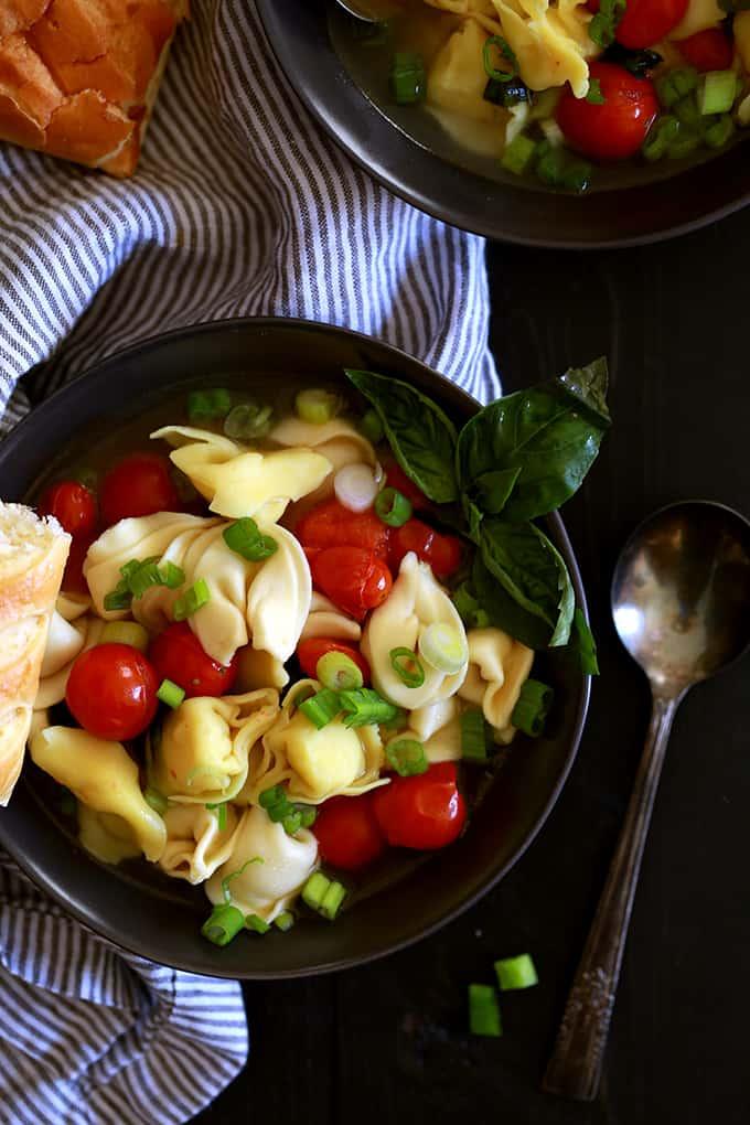 Cherry Tomato and Tortellini Soup | Melanie Makes