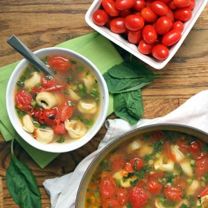 Cherry Tomato and Tortellini Soup | Melanie Makes melaniemakes.com