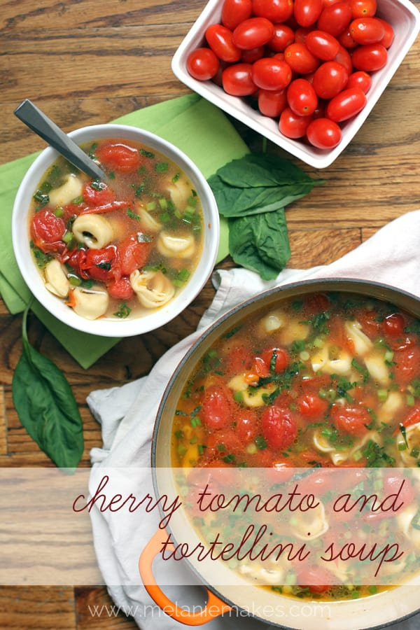 Cherry Tomato and Tortellini Soup | Melanie Makes melaniemakes.com
