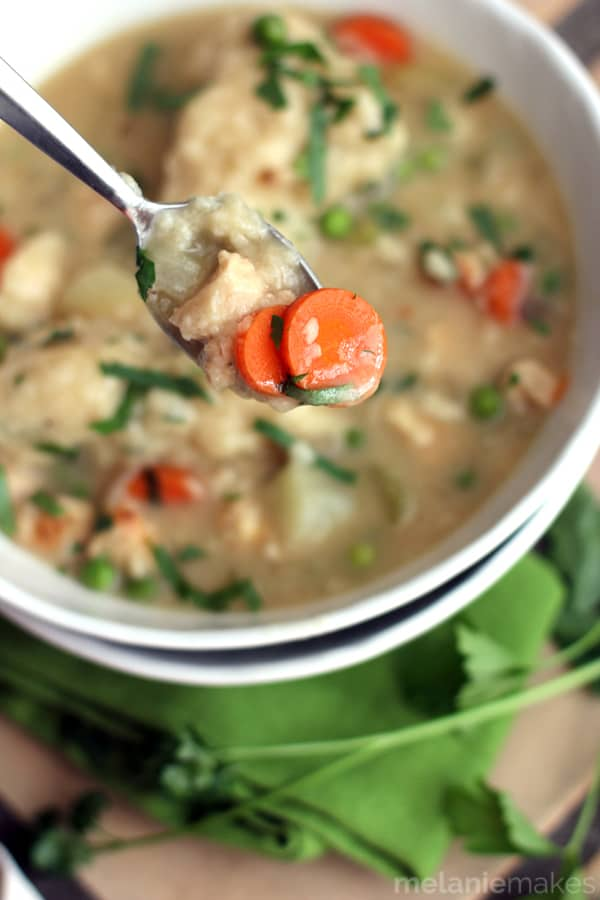 Easy Chicken and Dumpling Soup | Melanie Makes