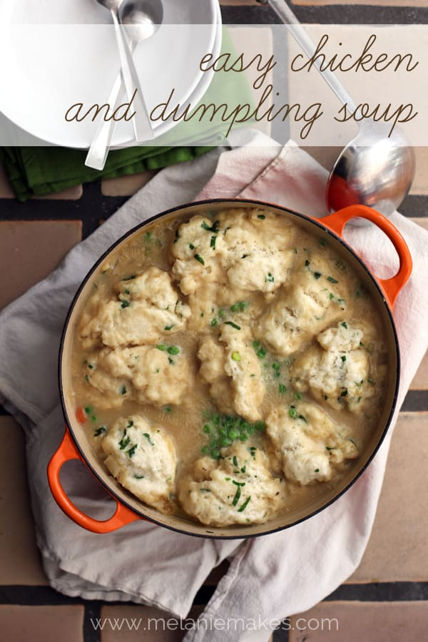 Easy Chicken and Dumpling Soup | Melanie Makes melaniemakes.com