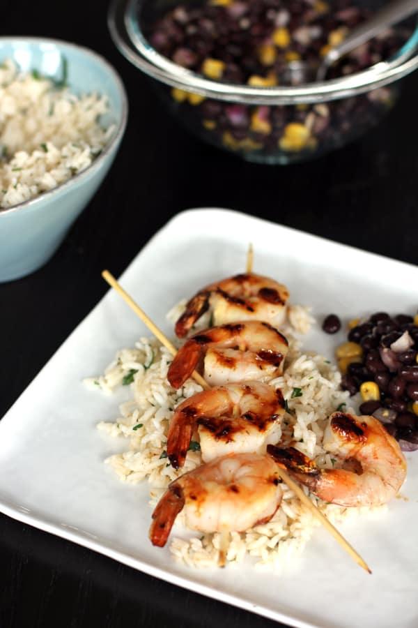 Honey Lime Shrimp Skewers | Melanie Makes melaniemakes.com