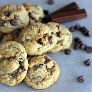 Kit Kat Chocolate Chip Cookies | Melanie Makes melaniemakes.com