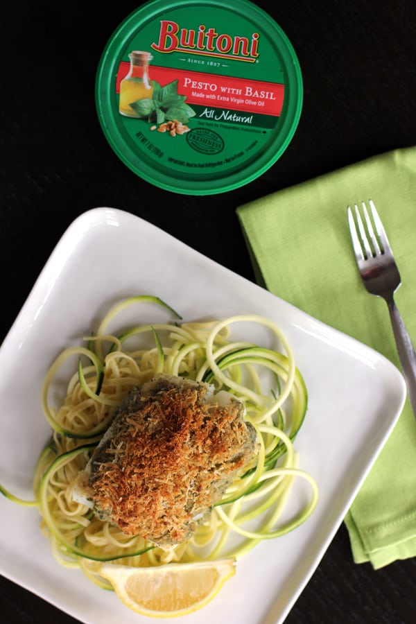 Parmesan Pesto Crusted Cod | Melanie Makes melaniemakes.com #Valentines4All #shop #cbias