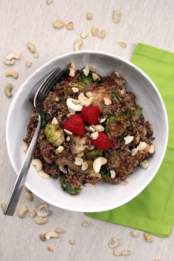 raspbery cashew chicken quinoa bowl 2