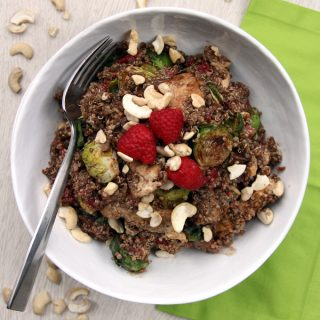 Raspberry Cashew Chicken Quinoa Bowl | Melanie Makes melaniemakes.com #JustAddTyson #ad #shop