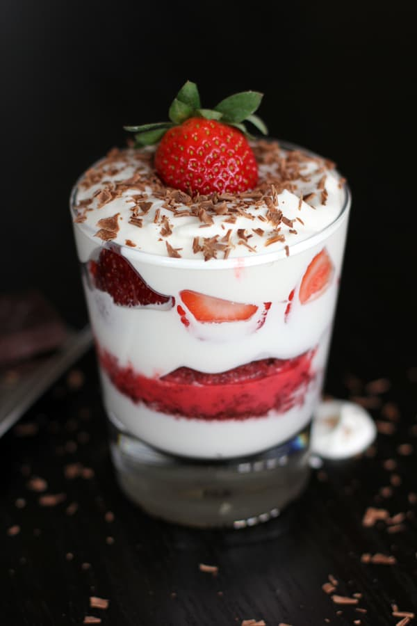 Red Velvet Tres Leches Cake Trifles | Melanie Makes melaniemakes.com #Valentines4All #shop #cbias