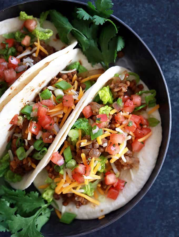 Slow Cooker Lentil and Brown Rice Tacos | Melanie Makes
