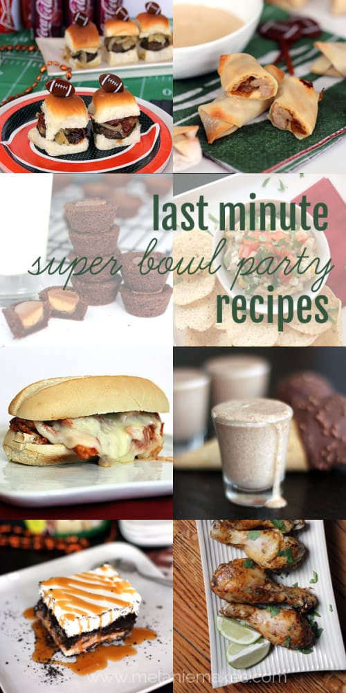 Last Minute Super Bowl Party Recipes | Melanie Makes melaniemakes.com