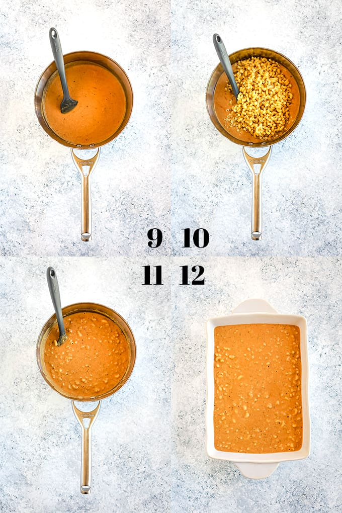How to make Bacon Crusted Beer Mac and Cheese, steps 9-12.
