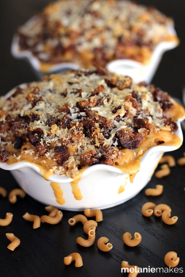 Bacon Crusted Beer Mac and Cheese   Melanie Makes