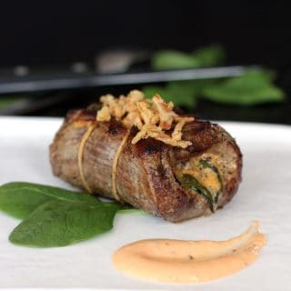 Onion Blossom Stuffed Flank Steak | Melanie Makes melaniemakes.com