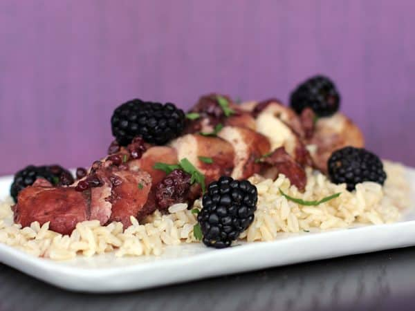 Slow Cooker Blackberry Chicken | Melanie Makes melaniemakes.com