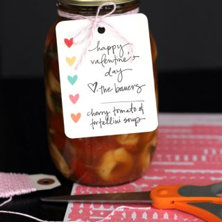 Soup-er Neighbor Valentine | Melanie Makes melaniemakes.com