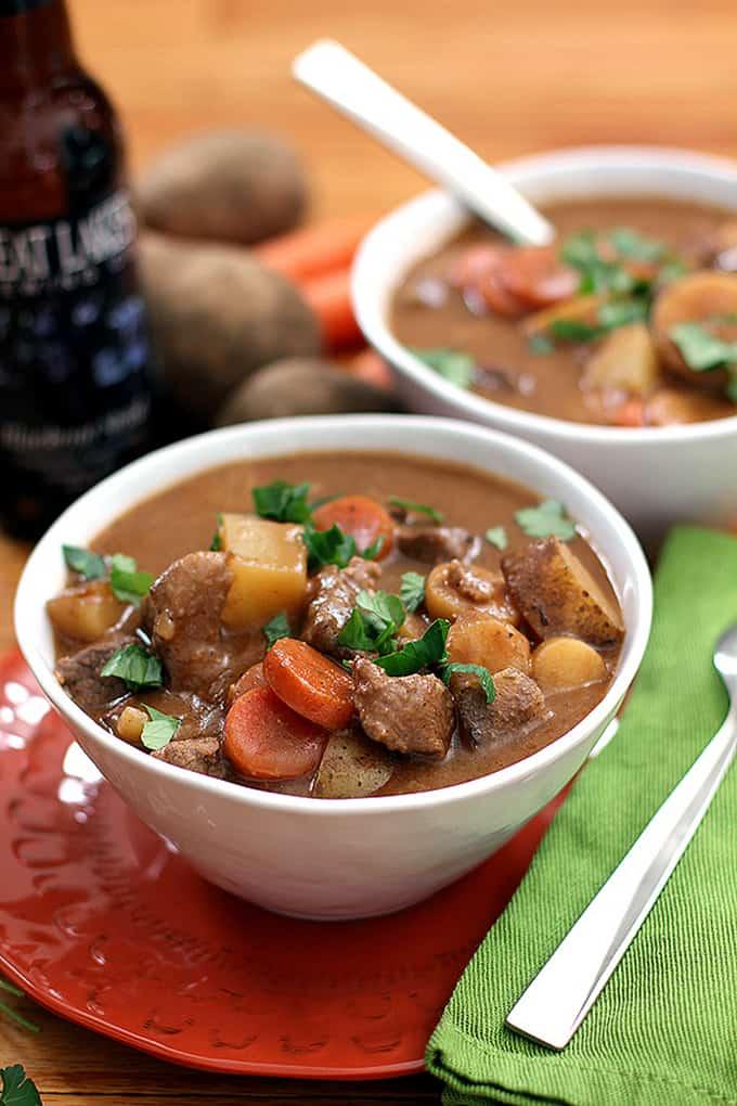 Stout Beer Beef Stew - Melanie Makes