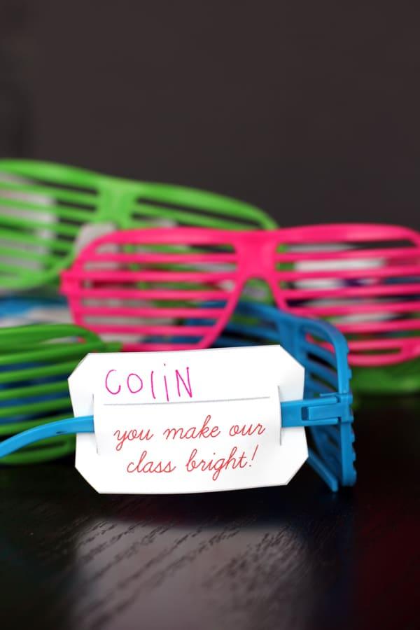 You Make Our Class Bright Valentine | Melanie Makes melaniemakes.com