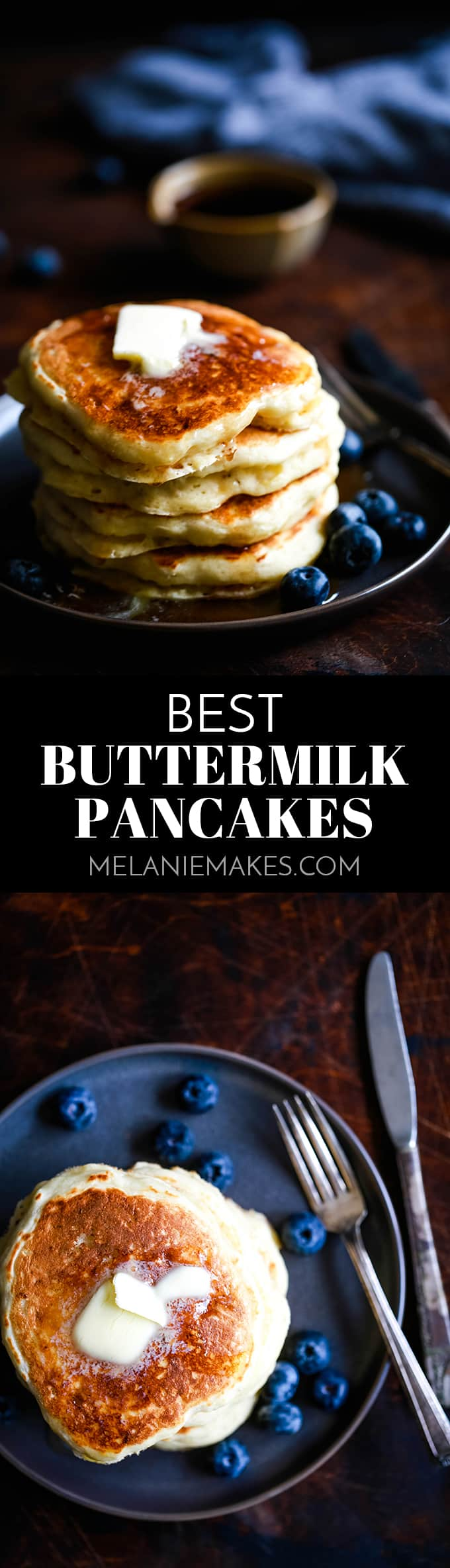 Light and fluffy. Quick and easy. Hands down the Best Buttermilk Pancakes you've ever eaten. #buttermilk #pancakes #breakfastrecipes #brunch #easyrecipe