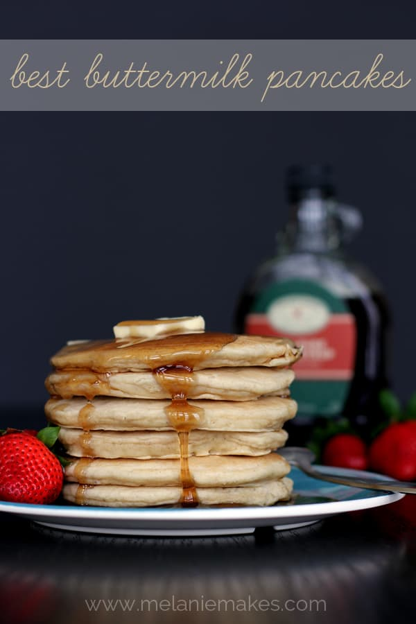 Best Buttermilk Pancakes | Melanie Makes melaniemakes.com