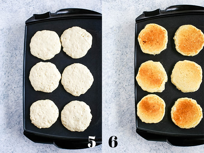 How to prepare the Best Buttermilk Pancakes, steps 5-6.