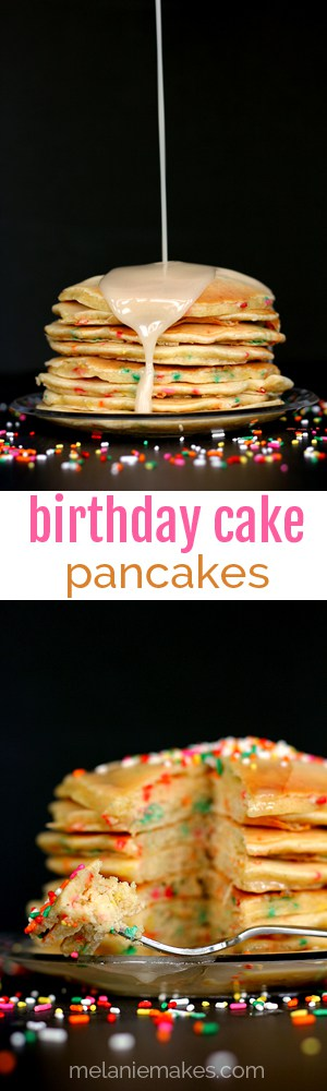 Birthday Cake Pancakes | Melanie Makes