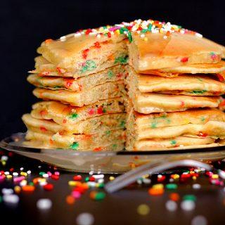 Birthday Cake Pancakes | Melanie Makes
