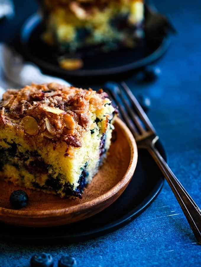 Blueberry Lemon Almond Coffee Cake