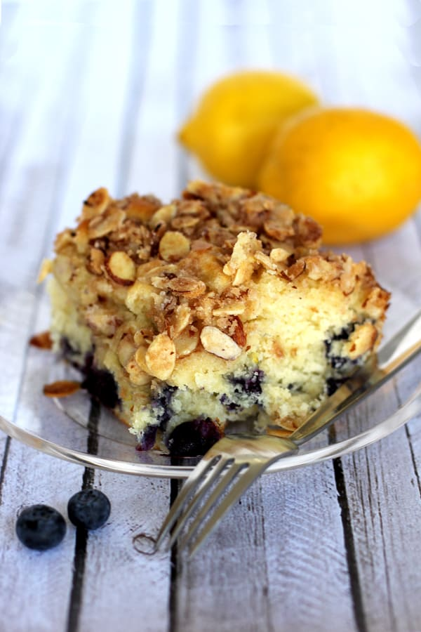 Blueberry Lemon Almond Coffee Cake | Melanie Makes melaniemakes.com