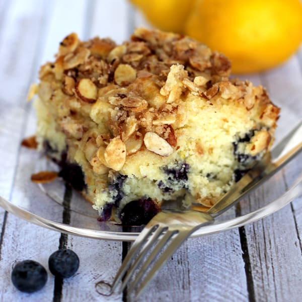 Almond-Berry Coffee Cake Recipe — Dishmaps
