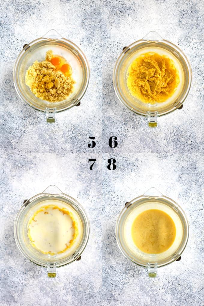 How to prepare Blueberry Lemond Almond Coffee Cake, steps 5-8.