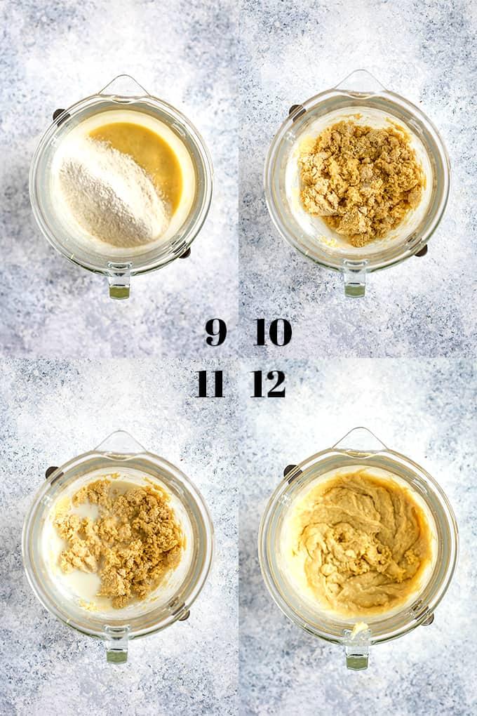 How to prepare Blueberry Lemon Almond Coffee Cake, steps 9-12.