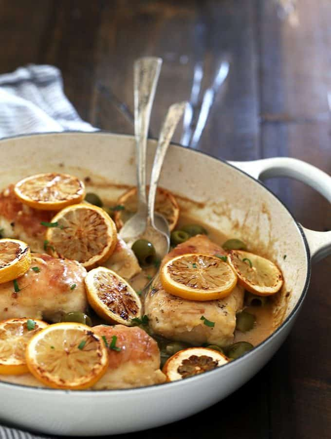Chicken with Roasted Lemons and Green Olives | Melanie Makes