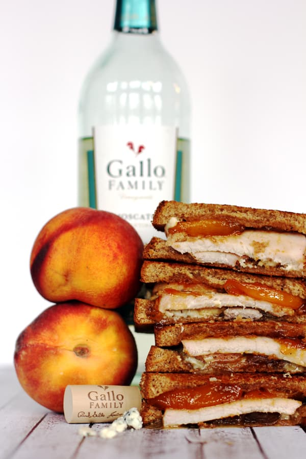 Honey Glazed Peach and Pork Tenderloin Grilled Cheese | Melanie Makes melaniemakes.com