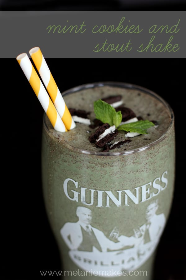 Mint Cookies and Stout Shake | Melanie Makes melaniemakes.com