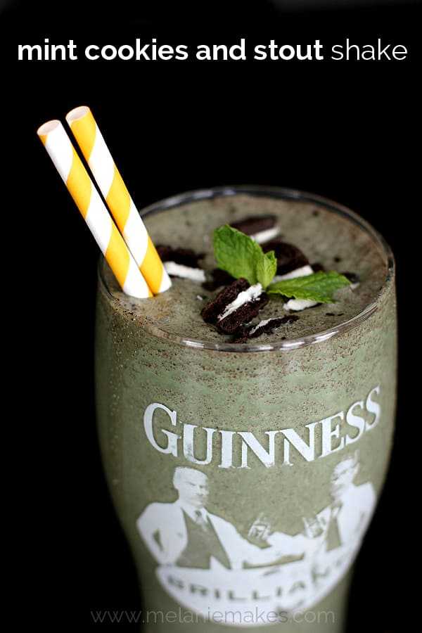 Mint Cookies and Stout Shake | Melanie Makes