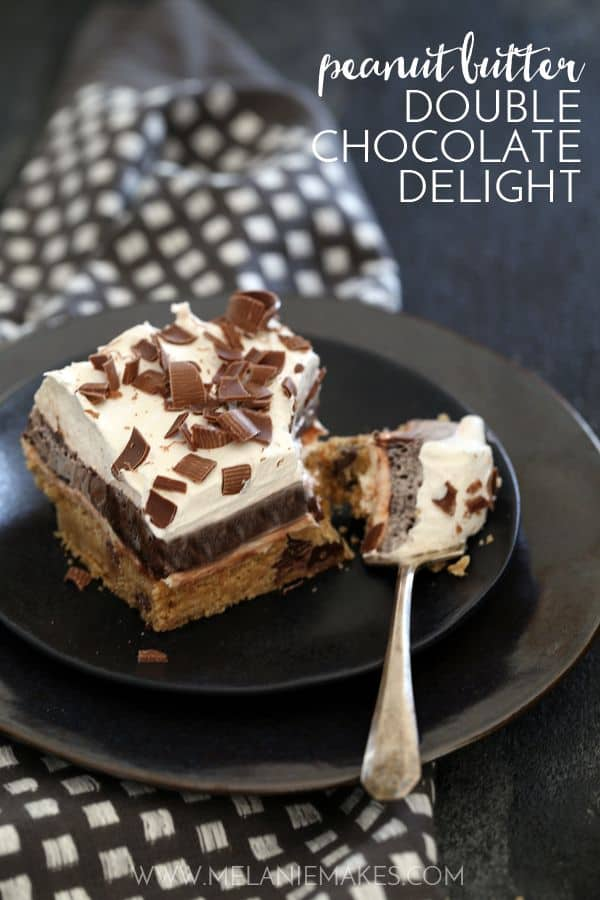 Peanut Butter Double Chocolate Delight | Melanie Makes