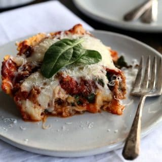 Quick and Easy Ravioli and Spinach Lasagna | Melanie Makes