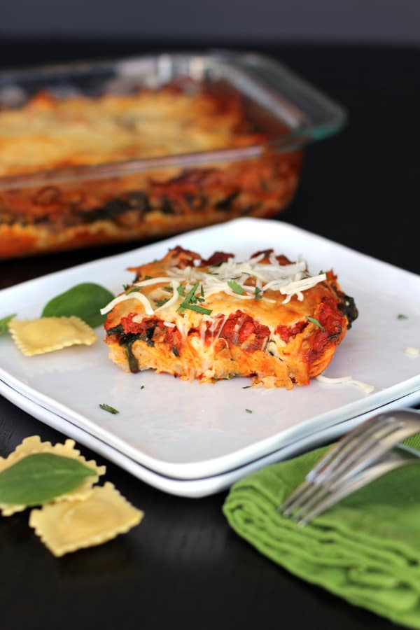 Ravioli and Spinach Lasagna | Melanie Makes melaniemakes.com