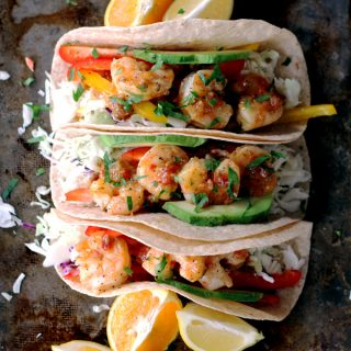 Rosemary Citrus Shrimp Tacos | Melanie Makes melaniemakes.com