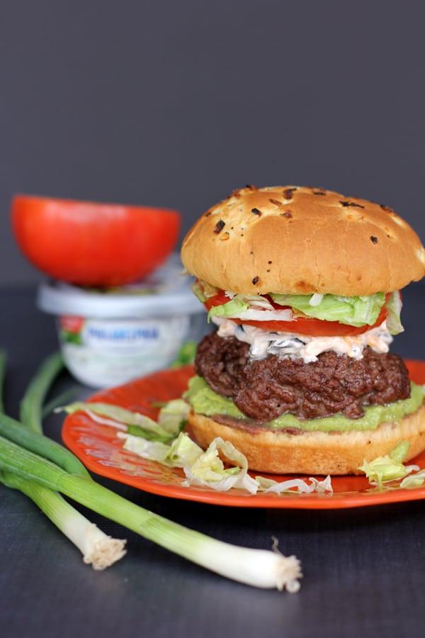 Seven Layer Taco Dip Burger   Melanie Makes melaniemakes.com