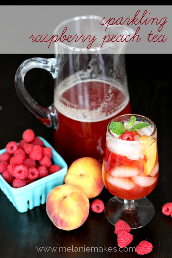 Sparkling Raspberry Peach Iced Tea | Melanie Makes melaniemakes.com