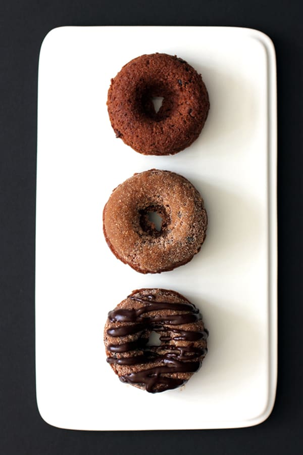 Triple Chocolate Snickerdoodle Donuts | Melanie Makes melaniemakes.com