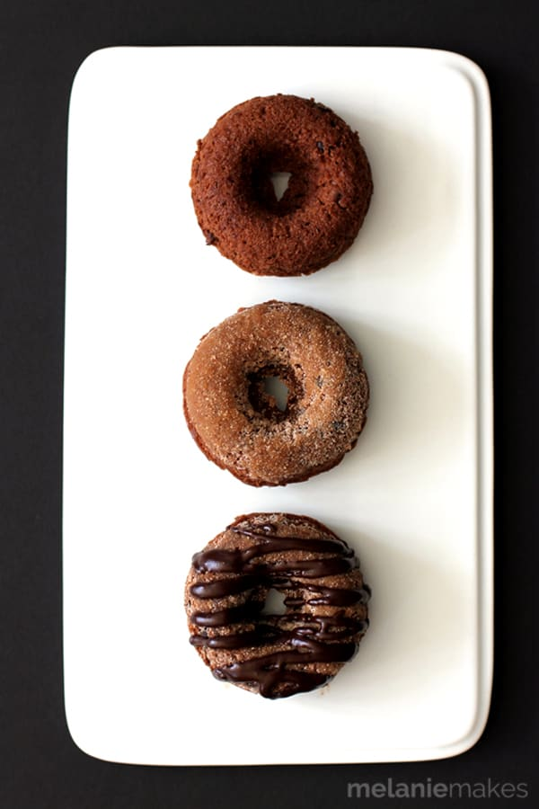 Triple Chocolate Snickerdoodle Donuts | Melanie Makes
