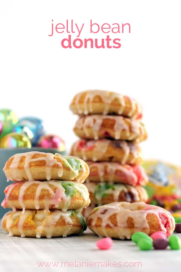 Jelly Bean Donuts | Melanie Makes melaniemakes.com