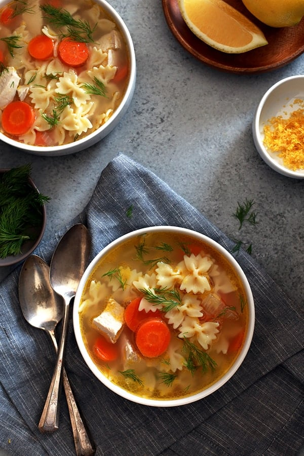 A one pot soup that's ready in just 30 minutes? It's true! This Lemon Dill Chicken Noodle Soup is bursting with bright flavors and is sure to awaken your taste buds.