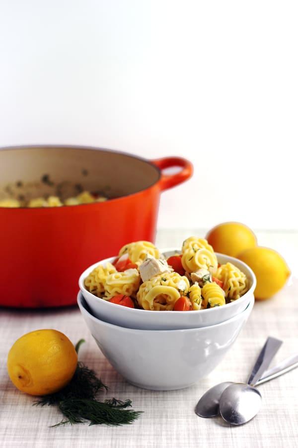 Lemon Dill Chicken Noodle Soup | Melanie Makes melaniemakes.com