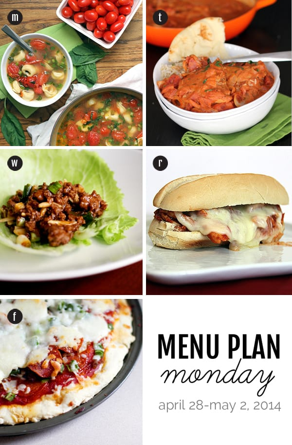 Menu Plan Monday: April 28-May 2, 2014 | Melanie Makes melaniemakes.com