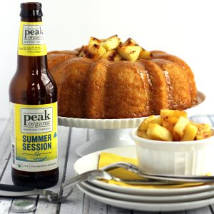 Pineapple Pale Ale Bundt Cake with Brown Sugar Glaze | Melanie Makes melaniemakes.com