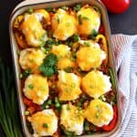Southwest Skillet Stuffed Peppers | Melanie Makes