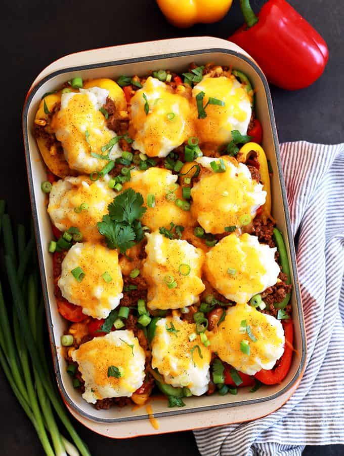 Southwest Skillet Stuffed Peppers