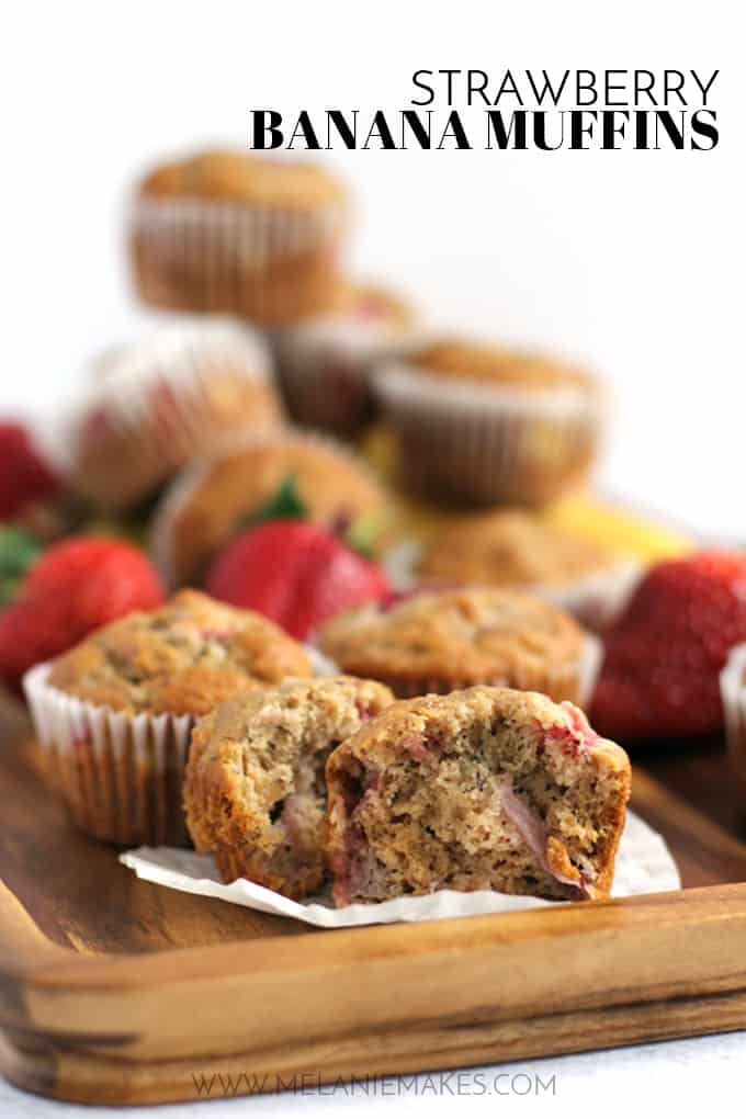 Strawberry Banana Muffins | Melanie Makes